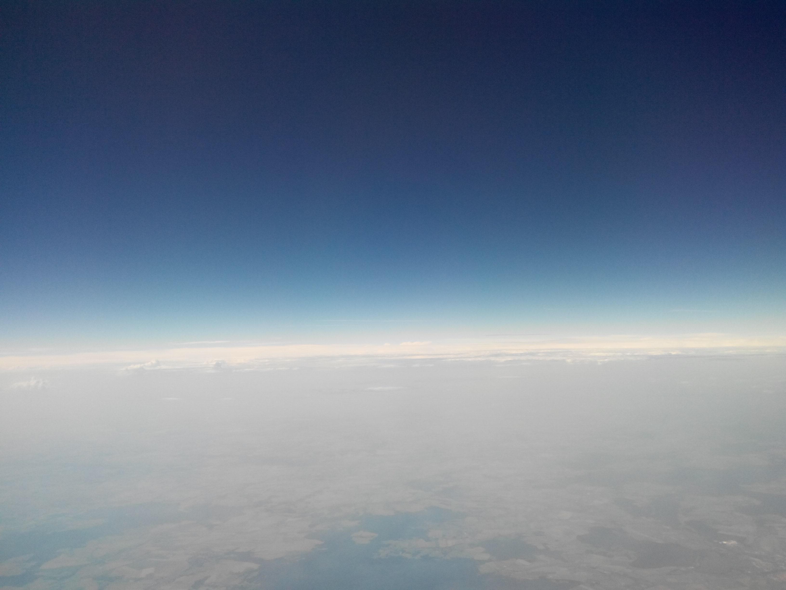 Horizont über den Wolken