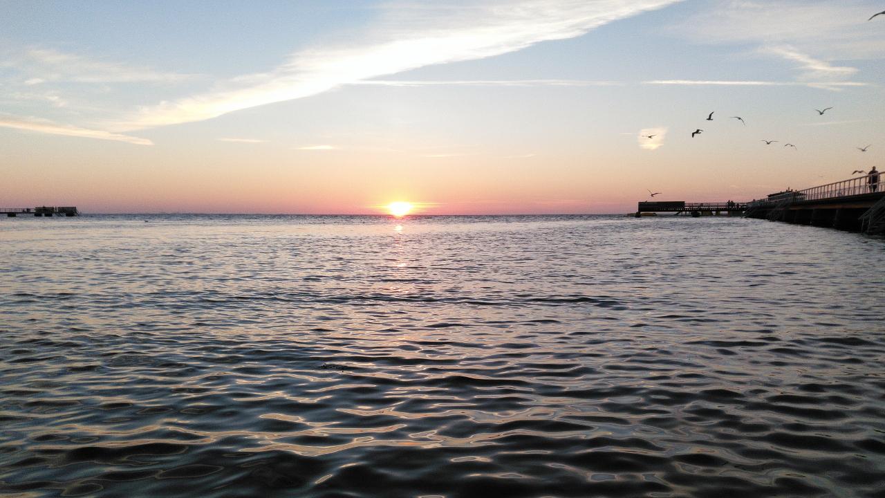Sonnenuntergang in (!) der Ostsee