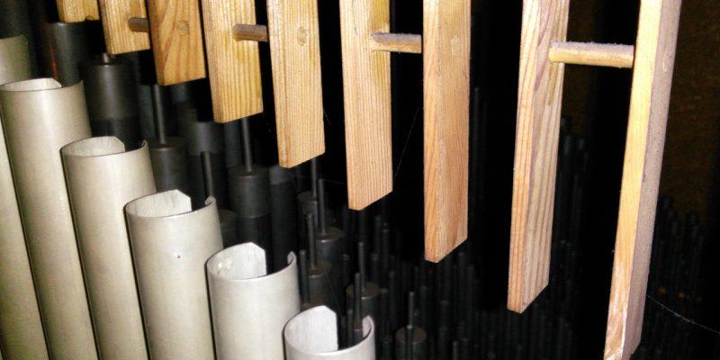 Orgelpfeifen in St. Anna (Berlin Baumschulenweg)