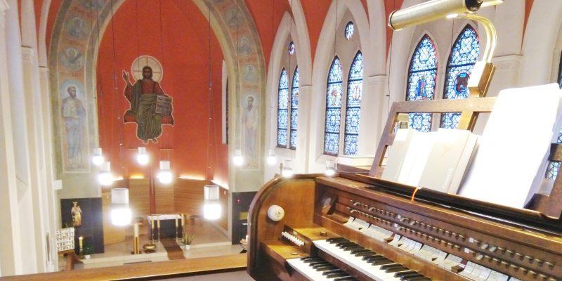Altarwandbild der Krankenhauskirche St, Joseph in Berlin Weißensee