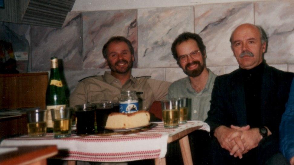 Pfr. Thomas Eisenmenger 1995 zu Besuch bei der Caritas Odessa