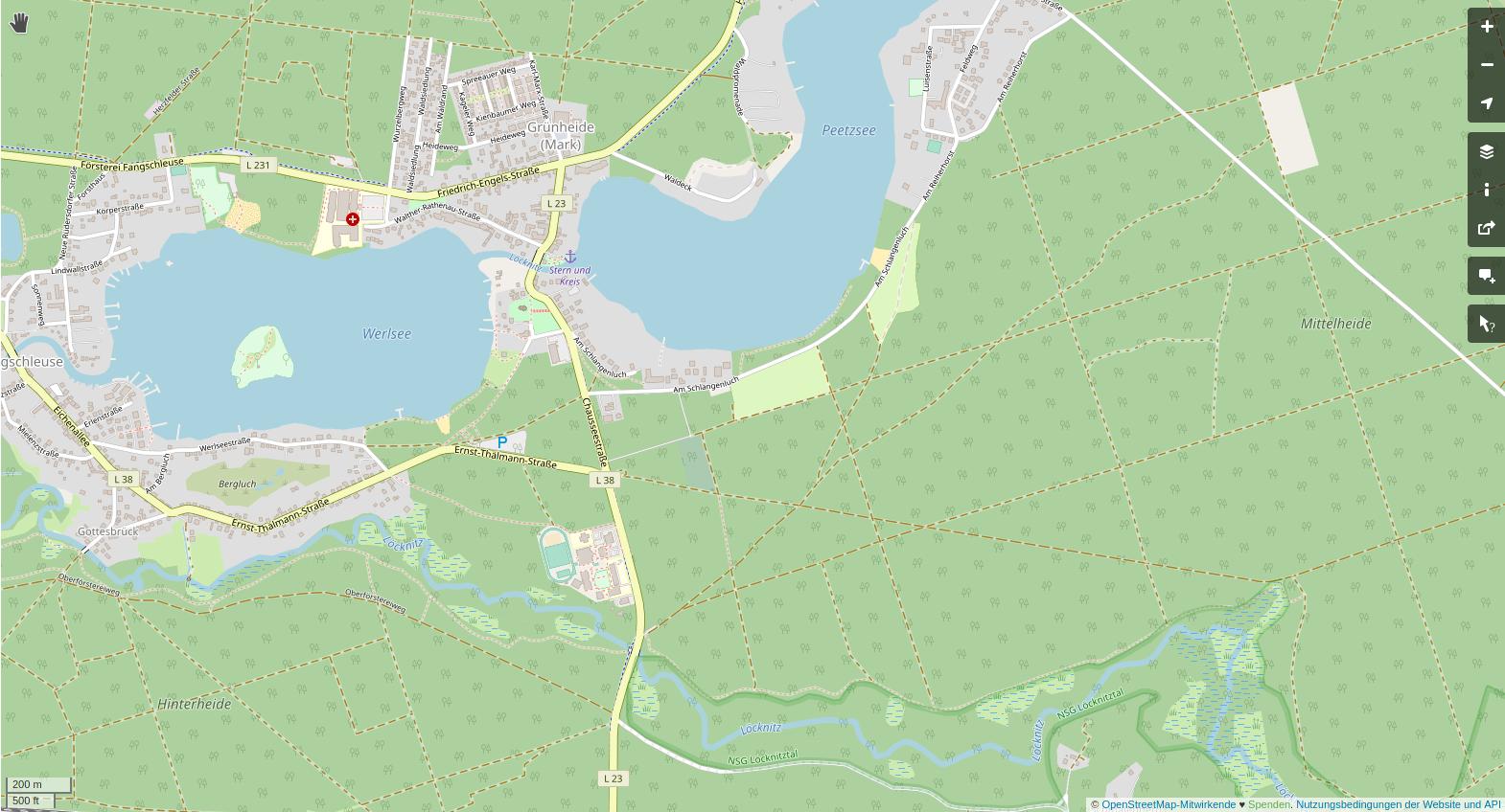 OSM-Kartenausschnitt Fangschleuse